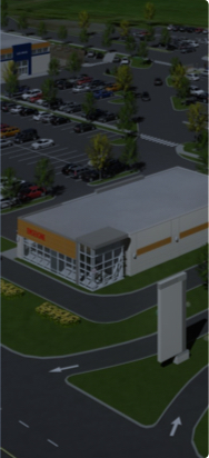 Overview of a Groupe Mach commercial real estate property