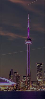 Landscape of Toronto city