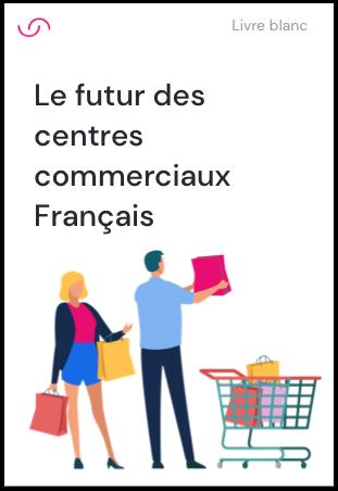 Page de couverture du whitepaper futur de la recherche consommateur illustrant une femme faisant ses courses en ligne
